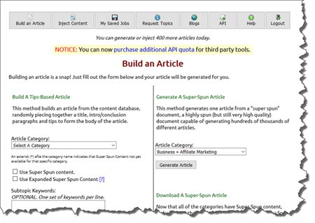 Article writer software